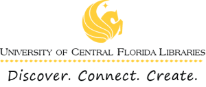 image of the UCF Libraries Brand: Discover Connect Create