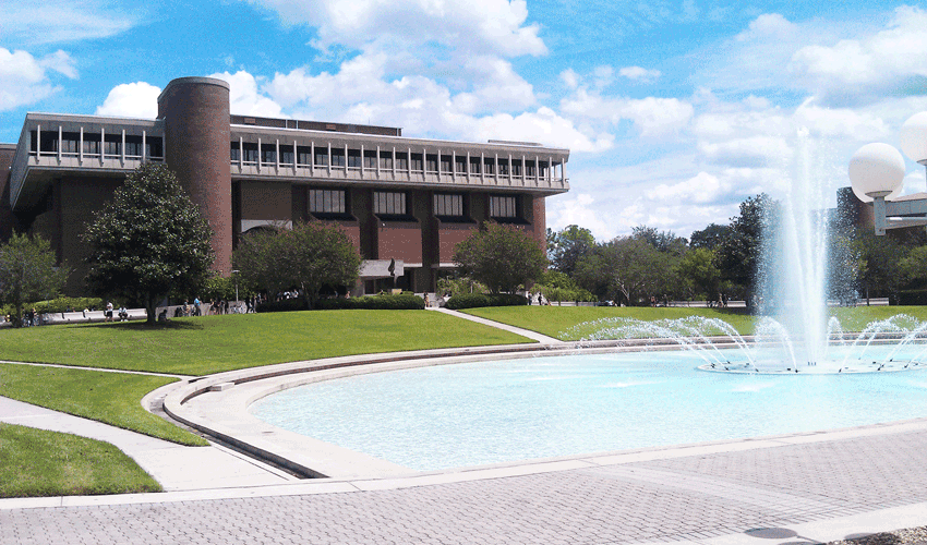 Library and Reflecting Pond