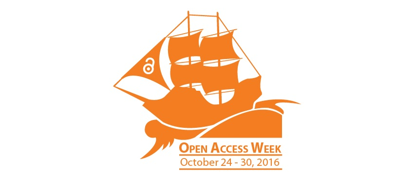 Open Access Week Logo of Pirate Ship