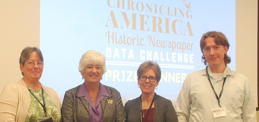 "Dr. Amy L. Giroux, Margaret ""Peggy"" Plympton (NEH Deputy Chairman), Dr. Marcy L. Galbreath, and Nathan Giroux"