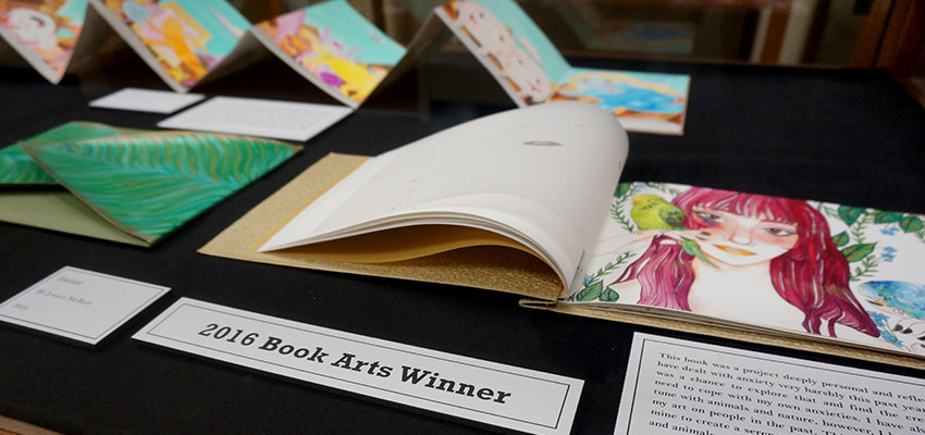 """Familiar"" by Jessica McRory, winner of the 2016 UCF Student Book Arts Competition"