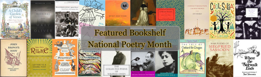 Featured poetry books for National Poetry Month