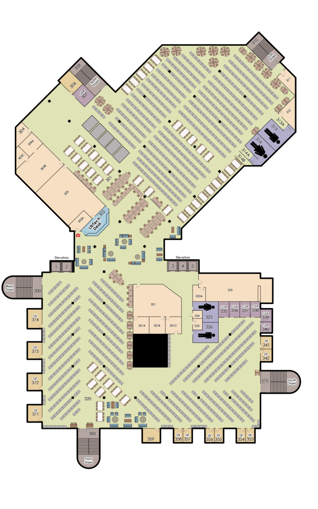 John C. Hitt, 3rd Floor Map