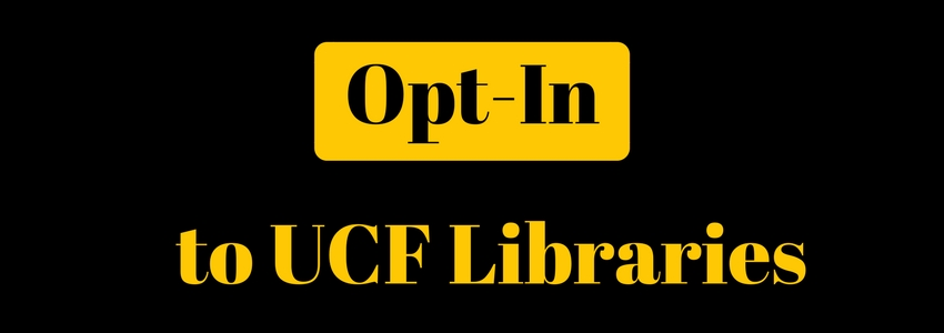 Opt-In to UCF Libraries