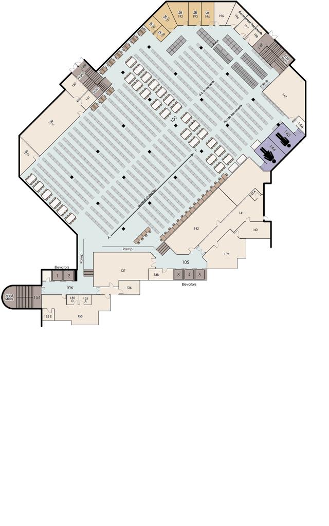 John C. Hitt, 1st Floor Map