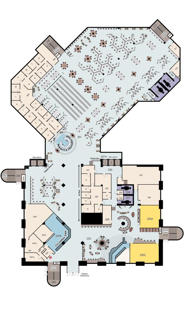 John C. Hitt, 2nd Floor Map