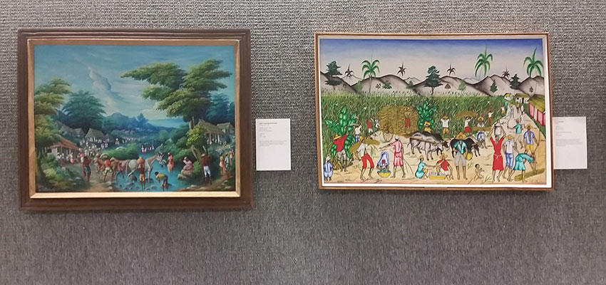 Two pieces from the Nature as a Linking Force: Temporal and Spiritual Life in Haiti exhibit