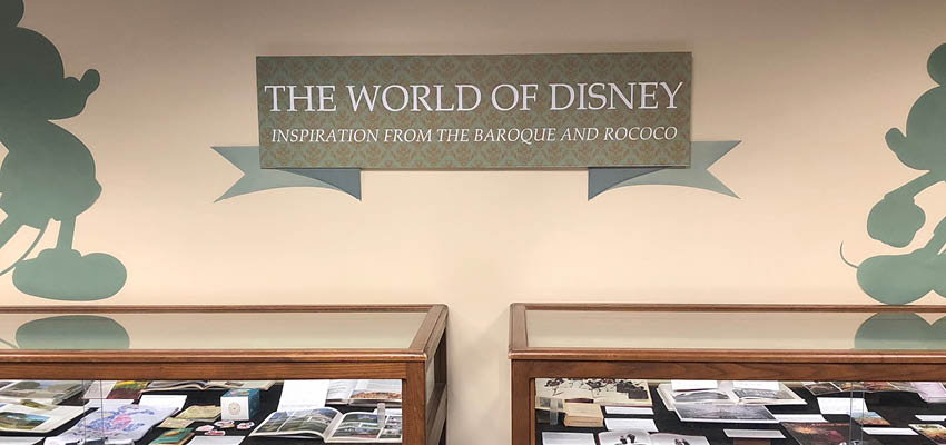 The World of Disney exhibit on display from April 6, 2018 through June 29, 2018