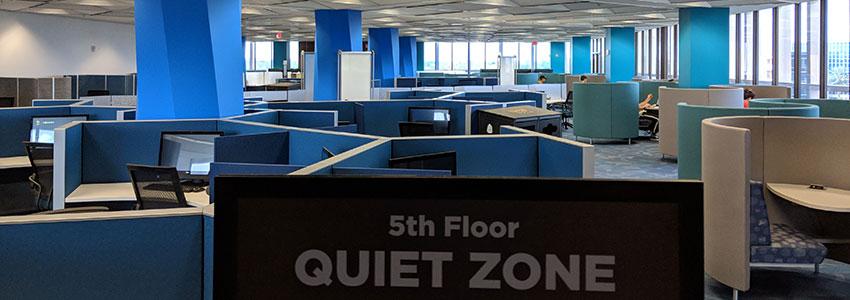 5th Floor Quiet Zone Banner