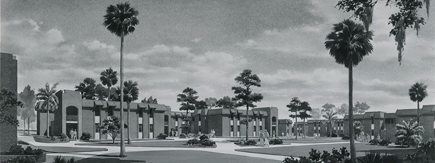 Rendering of Apollo dorms, 1966