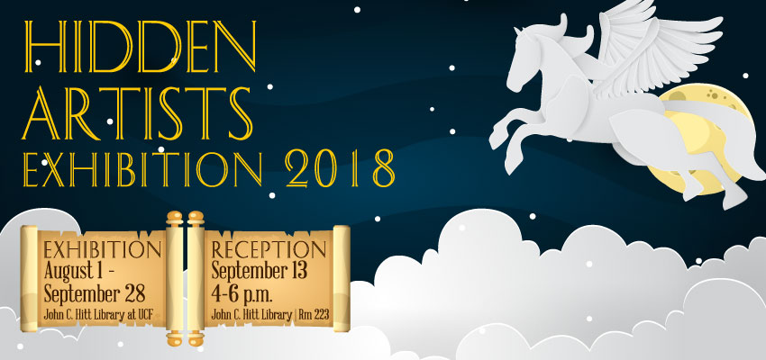Hidden Artists Exhibit, August through September 2018