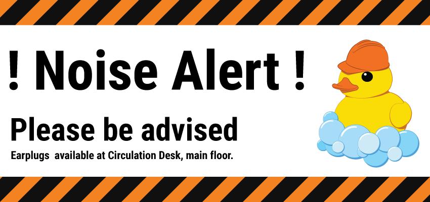 Noise alert banner