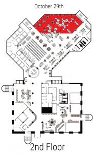 2nd Floor closures map 10/29/18