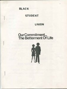 Black Student Union Packet Cover (from the University of Central Florida Office of the President: H. Trevor Colbourn Presidential Papers)