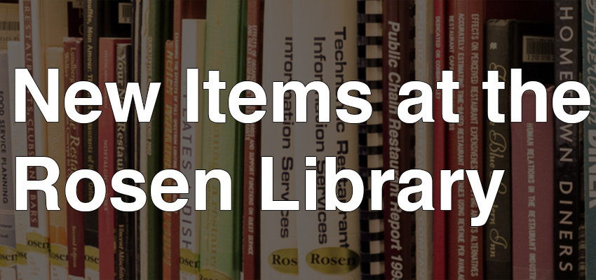 New Items at the Rosen Library