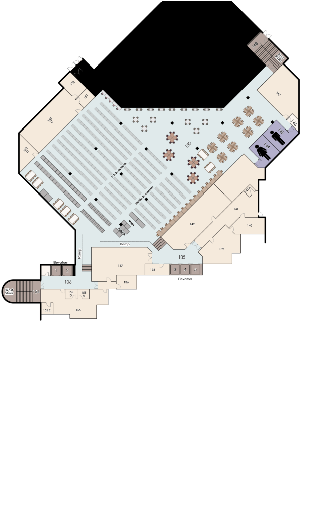 John C. Hitt, 1st Floor Map