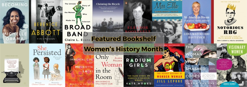 Women's History Month 2019 Featured Bookshelf