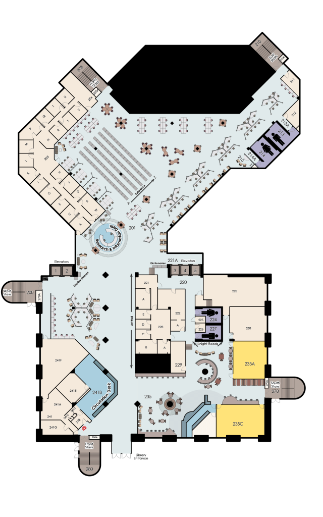 John C. Hitt, 2nd Floor Map