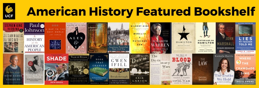 July 2019 Featured Bookshelf: American History bookcovers for suggested reading