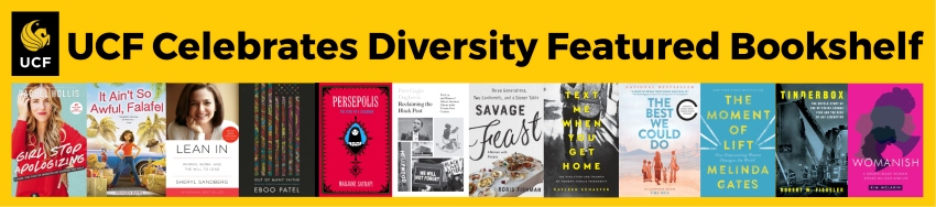 UCF Celebrates Diversity featured bookshelf covers