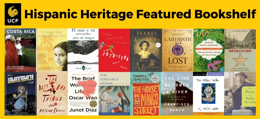 Hispanic Heritage Featured Bookshelf