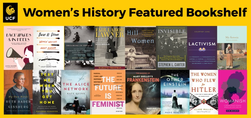 Featured Bookshelf: Women's History Month suggested book covers