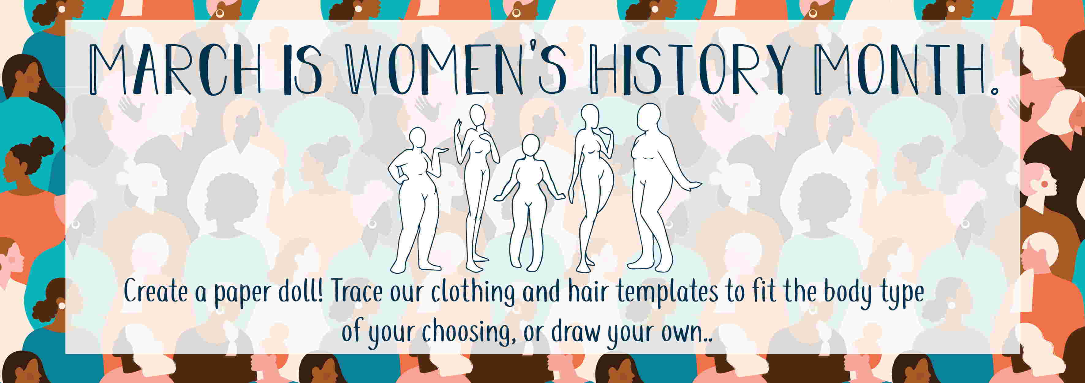 women's history month 2020 banner