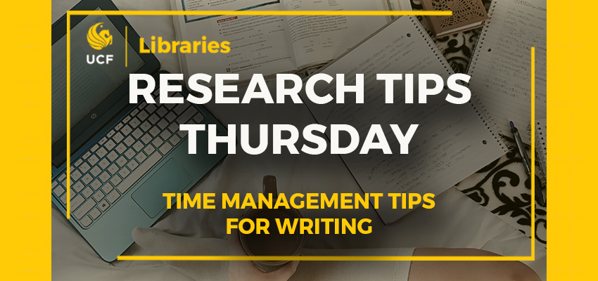 Research Tips Thursday Time Management Tips for Writing