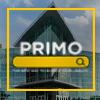 Primo logo over image of John C HItt Library